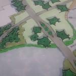 Detail schetsontwerp verbinding tussen de wijken oud-Charlois en Wielewaal