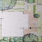 Tuinontwerp moderne vormgeving 400 m2