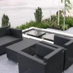 moderne tuin RVS waterelement vijver megategels rivius tuinontwerp