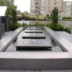 moderne tuin RVS waterelement vijver rivius tuinontwerp