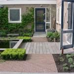 moderne tuin ontwerp rivius vlonder vijver