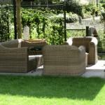 overkapping in romantische tuin rivius