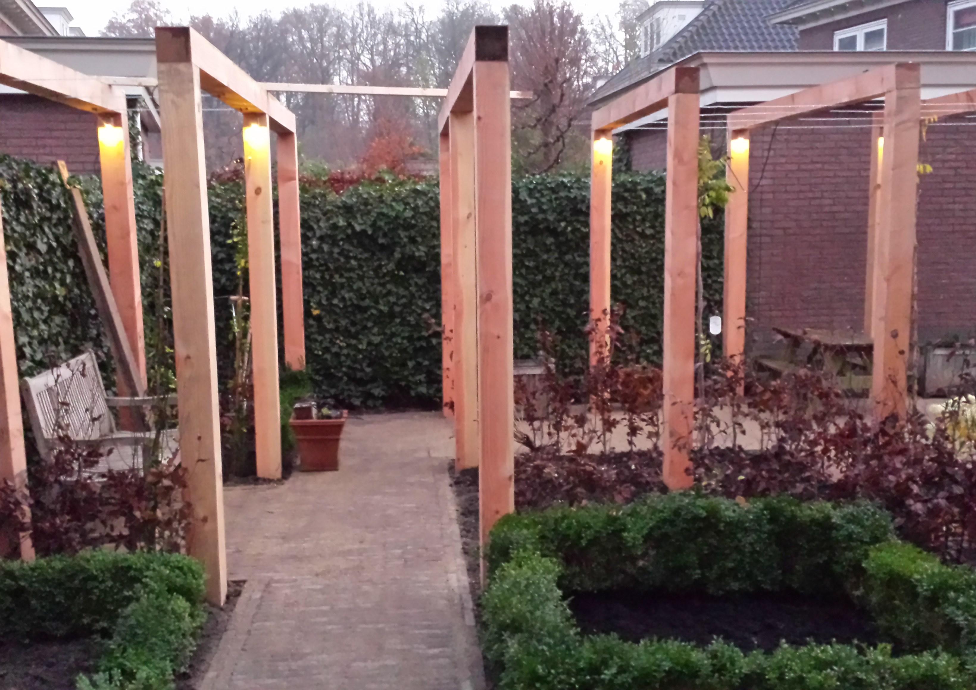 Tuinhuis van larixhout beste inspiratie kamers design en meubels - Omslag van pergola ...