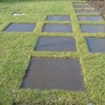 Structuur in de tuin! Met staptegels in gazon