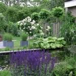 vijver in romantische tuin rivius tuinontwerp