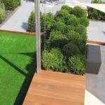 vlonder kunstgras loungetuin buxuswolken rivius tuinontwerp