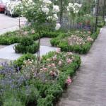 voortuin romantische tuin modern rivius tuinontwerp