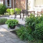 voortuin strakke tuin modern rivius tuinontwerp