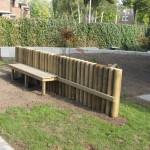 Gemeenschappelijk speelterrein bij logeerhuis Rotterdam