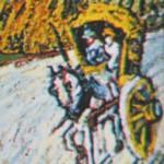 Detail afbeelding 'weg met cipres en ster'