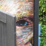 Detail afbeelding zelfportret van Gogh Appeltern 2015
